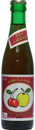 Søbogaard Økologisk æble-kirsebær saft på 25 cl cafeflaske