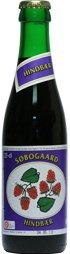 Søbogaard Økologisk Hindbær saft på 25 cl cafeflaske