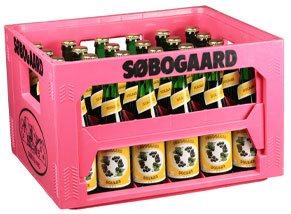 Søbogaard kasse med 30 økologiske flasker saft