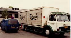 Lastbil og Hiace i Albertslund