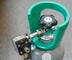 Kulsyreflaske med automatisk trykregulator