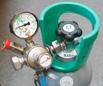 CO2 flaske med justerbar trykregulator og udgangstryk manometer defekt