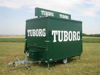 Tuborg udskænkningsvogn udslået