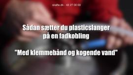 Sådan sætter du plasticslanger på en fadkobling