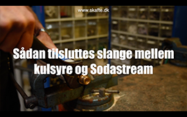 Sådan tilsluttes slange mellem kulsyre og sodastream